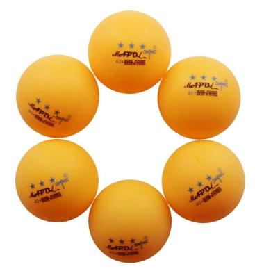 MAPOL 50-Pack Orange 3-Star Premium Ping Pong Balls